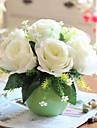 7 Gren Silke Roser Bordsblomma Konstgjorda blommor