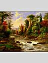 HANDMÅLAD Abstrakta landskapEuropeisk Stil / Moderna / Klassisk / Realism / Parfymerad En panel Kanvas Hang målad oljemålning For