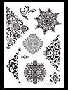 Series de fleur Noir Papier approvisionnement de tatouage article complet Pochoir Tatouage