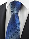 Cravată(Albastru,Poliester)Buline