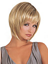 10inch kvinnor korta beige blond ton raka fullt Hjälp syntetiskt hår peruker med gratis hårnät