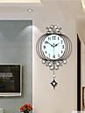 Nouveaute / Lanterne / Autres Moderne/Contemporain Horloge murale,Fleurs / Botaniques / Paysage / Mariage / Famille Verre / Metal63cm x
