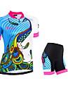 NUCKILY® Cykeltröja med shorts Dam Kort ärm Cykel Andningsfunktion / Reflexremsa / Back Pocket / 3D PadCykeltröja + shorts / Vadderade