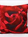 1 pcs Velours Taie d\'oreiller,Fleur Nature morte Imprimes PhotosDecoratif Moderne/Contemporain Retro Bureau / Affaires