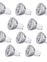10pcs 3w GU10 / gu5.3 / e27 lumiere 260lm chaud / blanc froid led spot 220v