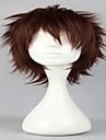 perruques de perruque cosplay populaire naturelle perruques homme brun fonce courts boucles animes perruques de cheveux synthetiques