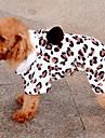 Chien Pulls a capuche Incanardin Vetements pour Chien Printemps/Automne Leopard Garder au chaud
