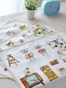 """4st tabletter pack tecknad katt bomullstyg tvättas mode mönster 11,8 """"med 12,6"""""""