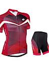 NUCKILY® Cykeltröja med shorts Dam Kort ärm Cykel Andningsfunktion / Reflexremsa / Back PocketCykeltröja + shorts / Arm Warmers /