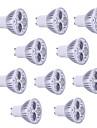 9W GU10 LED-spotlights PAR38 3 Högeffekts-LED 900 LM Varmvit Kallvit RGB Dekorativ AC 85-265 V 10 st