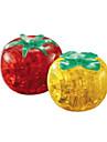 Puzzles Puzzles 3D Puzzles en Cristal Blocs de Construction Jouets DIY  Tomate ABS Rouge Jaune Maquette & Jeu de Construction