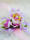Simple Rosebush Silk  Wedding Wrist Corsages  (More Colors)