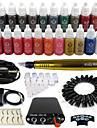 tatouage Solong machine a tatouer rotative&permanente maquillage stylo 50 cartouches d\'aiguilles jeu d\'encres alimentation pedale