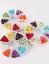 beadia 1set plastic perla margele 4/6 / 8mm perle rotunde ABS culori amestecate margele DIY kit pentru copii