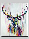 Peint a la main Abstrait Animal POP Verticale,Moderne Un Panneau Peinture a l\'huile Hang-peint For Decoration d\'interieur