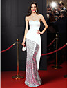 TS Couture® Formal Evening Dress Trumpet / Mermaid Sweetheart Floor-length Satin / Sequined with Sequins