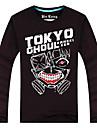 Inspirerad av Tokyo Ghoul Ken Kaneki Animé Cosplay Kostymer/Dräkter Cosplay Toppar / Bottoms Tryck Svart Lång ärm Topp
