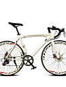 700C Bicicleta 14 Speeds 60MM Wide Rim TL ™ Aluminium Alloy Frame Double Disc Brake Bend Handlebar Road Bike