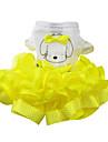 Chat / Chien Robe Rouge / Jaune / Vert Vetements pour Chien Ete / Printemps/Automne Noeud papillon Mode
