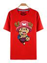 Inspire par One Piece Tony Tony Chopper Manga Costumes de Cosplay Cosplay T-shirt Imprime Rouge Manche Courtes Haut Pour Unisexe
