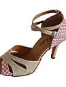 Chaussures de danse (Or) - Personnalisable - Talons personnalises - Paillettes scintillantes - Danse latine/Salle de bal