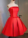 Rochie de mireasa rochie lunga fara curea rochie satin cocktail cu panglica