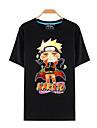 Inspirerad av Naruto Naruto Uzumaki Animé Cosplay-kostymer Cosplay T-shirt Tryck Svart Kort ärm Topp För Man