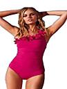 Sportif Femme Maillots de Bain Sechage rapide Bikinis Push Up Cordes Rose dragee / Noir Blanc S / M / L / XL / XXL