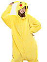 Kigurumi Pajamas New Cosplay® / Pika Pika Leotard/Onesie Halloween Animal Sleepwear Yellow Patchwork Coral fleece Kigurumi Unisex