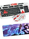 usb 2.4 jeux clavier souris sans fil et de plaquettes multimedia kit professionnel optique impermeable a l\'eau