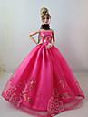 Fete / Soiree Robes Pour Poupee Barbie Rose Robes Pour Fille de Doll Toy