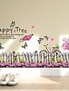 Cuvinte & Citate Modă Florale Perete Postituri Autocolante perete plane Autocolante de Perete Decorative Material DetașabilPagina de