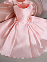 Ball Gown Knee-length Flower Girl Dress - Satin Sleeveless Jewel with