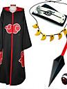 Inspire par Naruto Sasuke Uchiha Anime Costumes de cosplay Costumes Cosplay / Plus d\'accessoires Imprime Noir / RougeCape / Plus
