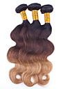 4 delar Vågigt Human Hair vävar Brasilianskt hår Human Hair vävar Vågigt
