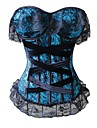 Feminin Corset sub Bust / Corset peste Bust / Set Corset / Plus Size Pijamale Dantelă / Nailon / Polyester-Dantelă / Retro / Sexy /