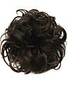 peruk svart choklad 6cm hög temperatur tråd hår cirkel färg 2/30