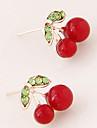 Cercei Stud La modă Personalizat Vișiniu Fruct Alb Rosu Verde Bijuterii Pentru Petrecere Zilnic Casual 1 pereche