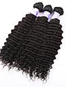 """3st / lot 8 """"-34"""" brasiliansk vinkar djupt Virin hår # 1b 300g vinkar djupt hår brasilianska hårweften väver hårförlängningar"""