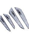 svart silver bildörr beskyddare fiberdörrsidokant skydd vakter klistermärken för alla bil styling tillbehör