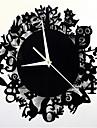 Moderne/Contemporain Autres Horloge murale,Rond Acrylique 30*30*5 Horloge
