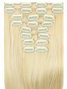 cheveux raides extension de cheveux synthetiques perruque blanche 62cm d\'or a haute temperature de la longueur du cable