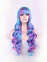 nouvelle couleur perruque de bande dessinee de melange de 28 pouces haute temperature cheveux boucles perruque de soie