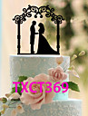 Cake Topper Non-personalized Classic Couple Acrylic Wedding Black Classic Theme 1 OPP
