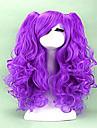 2 couleurs perruque cosplay a long boucles chaleur de cheveux synthetiques cosplay resistants parti perruques