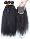 Trame cheveux avec fermeture Cheveux Bresiliens Droit 12 mois 4 Pieces tissages de cheveux