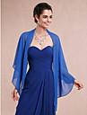 Women\'s Wrap Shawls Sleeveless Chiffon Royal Blue Wedding / Party/Evening