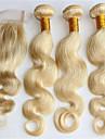 4 delar Kroppsvågor Human Hair vävar Brasilianskt hår Human Hair vävar Kroppsvågor