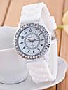 pentru Doamne Ceas La Modă Ceas de Mână Ceas Casual Quartz Ceas Casual imitație de diamant Silicon Bandă SclipiciNegru Alb Albastru Verde