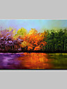 Large Hand-Painted Modern Landscape Trees Oil Painting On Canvas One Panel With Frame Ready To Hang 90x140cm